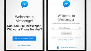 Can you use messenger without a phone number