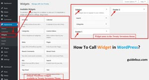 How To Call Widget in WordPress