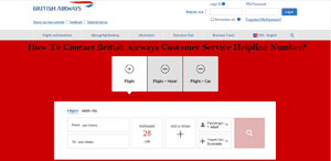 How To Contact British Airways Customer Service Helpline Number