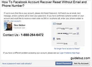 How To Facebook Account Recover Reset Without Email or Phone Number