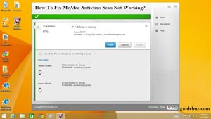 How To Fix McAfee Antivirus Scan Not Working