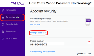 How To fix Yahoo Password Not Working USA