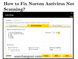 How to Fix Norton Antivirus Not Scanning