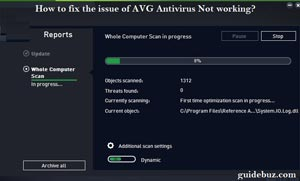How to fix the issue of AVG Antivirus Not working