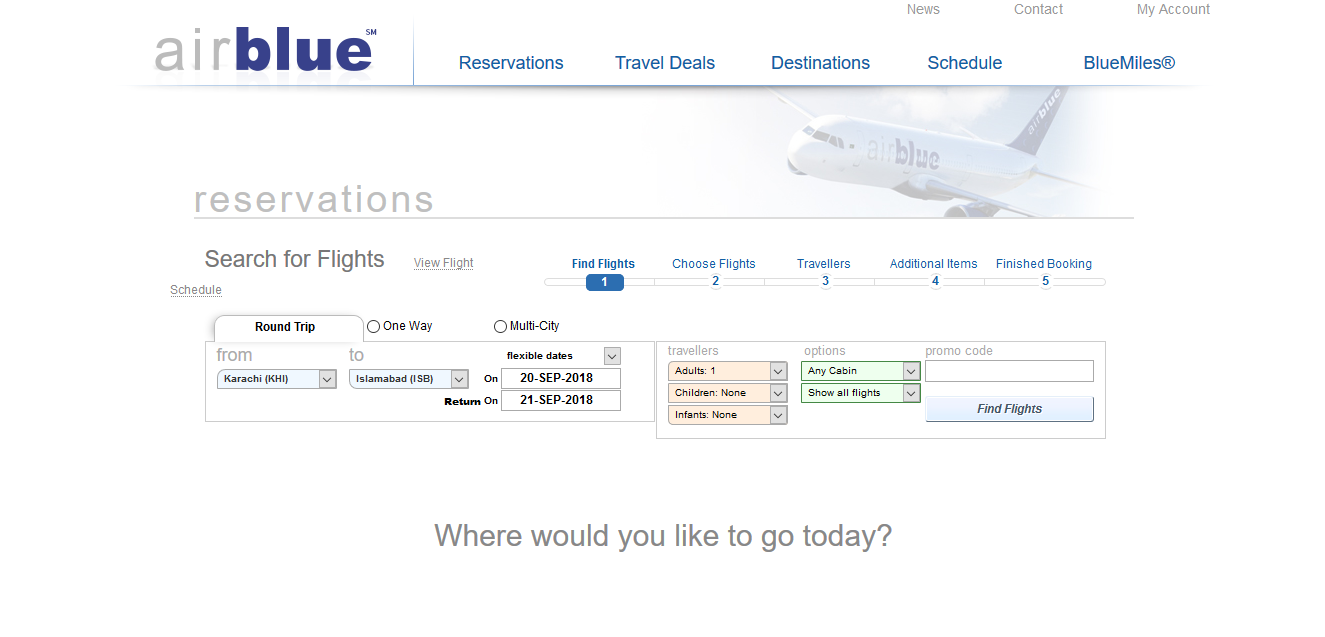 Airblue Airlines Customer Service Number